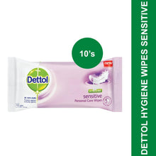 Load image into Gallery viewer, Dettol Hygiene Wipes Sensitive-10's