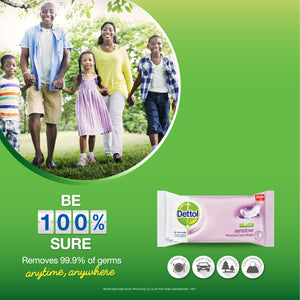 Dettol Hygiene Wipes Sensitive-10's