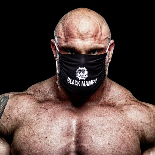 Black Mamba Microfibre Face Mask