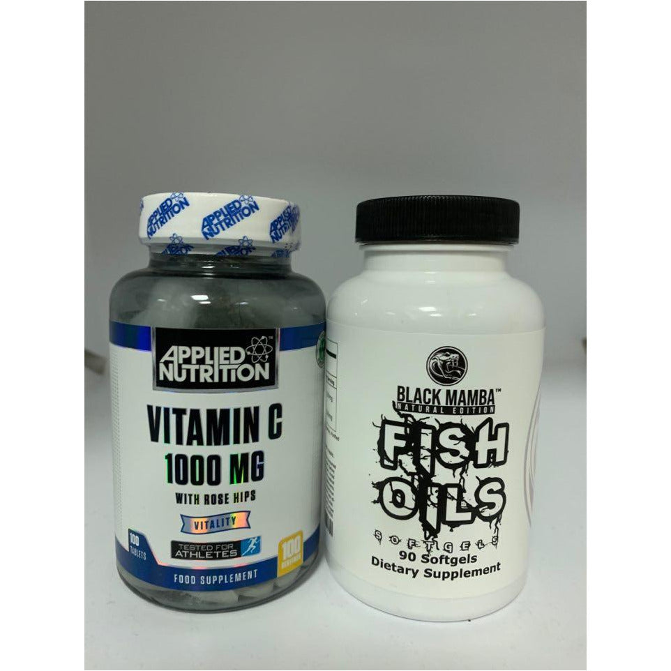 immune booster Vitamin C & Fish oil stack