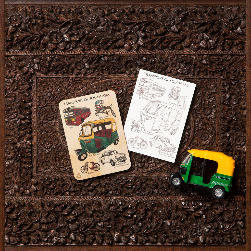Transport of South Asia Timber Tile + Matching Color In Card