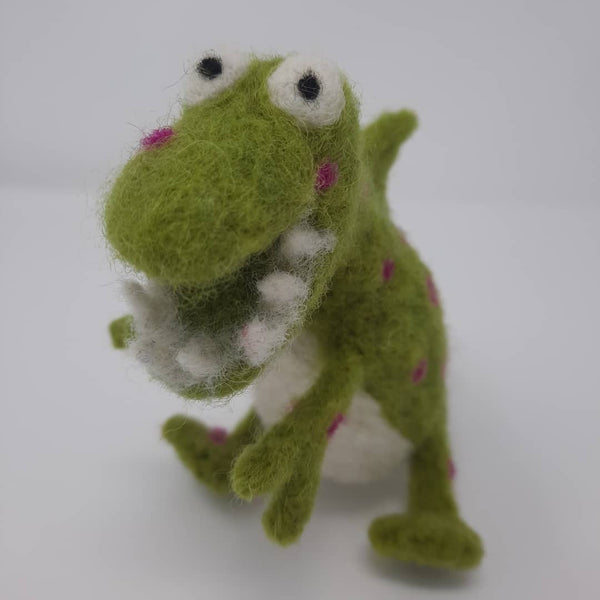 Felted Spotty Dinosaur