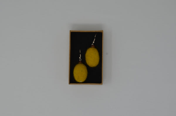 Customise oval felt earrings