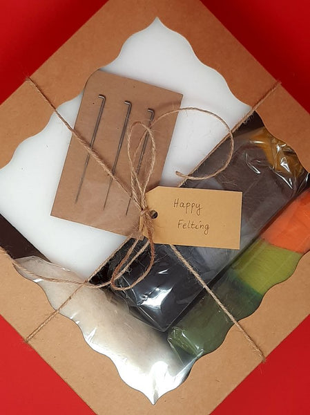 Needle Felting Kit in a gift box