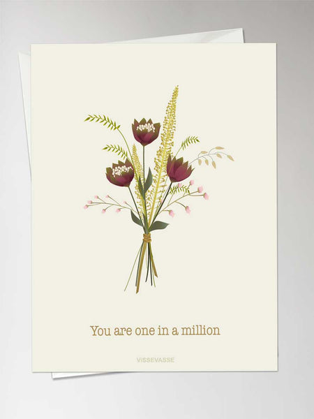 YOU ARE ONE IN A MILLION - anledningskort fra ViSSEVASSE