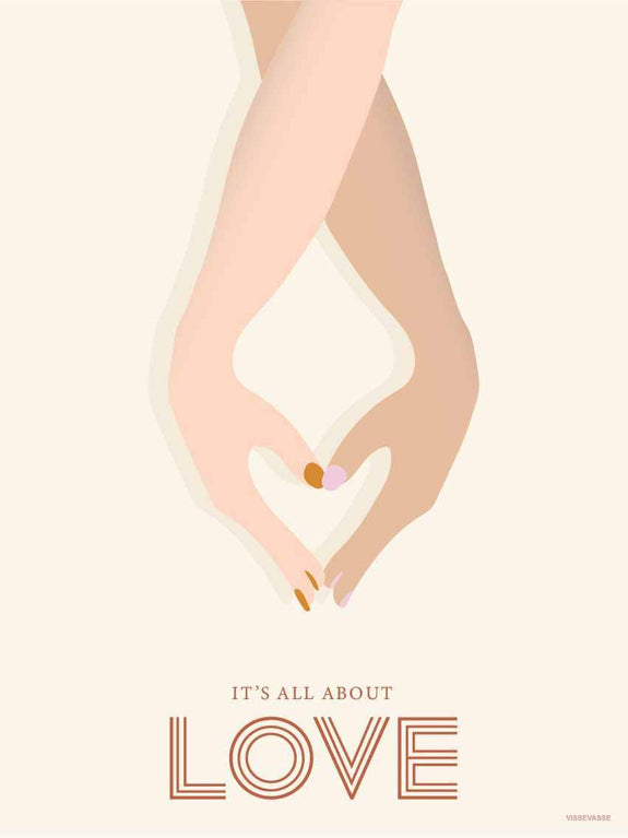 IT'S ALL ABOUT LOVE - plakat fra ViSSEVASSE