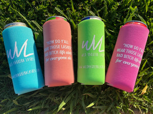Slim can koozies
