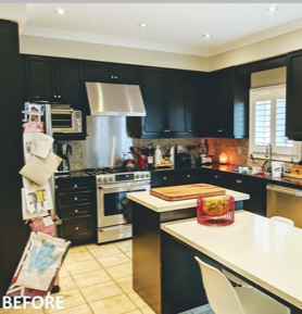 Before Kitchen Makeover, Whirlpool Canada
