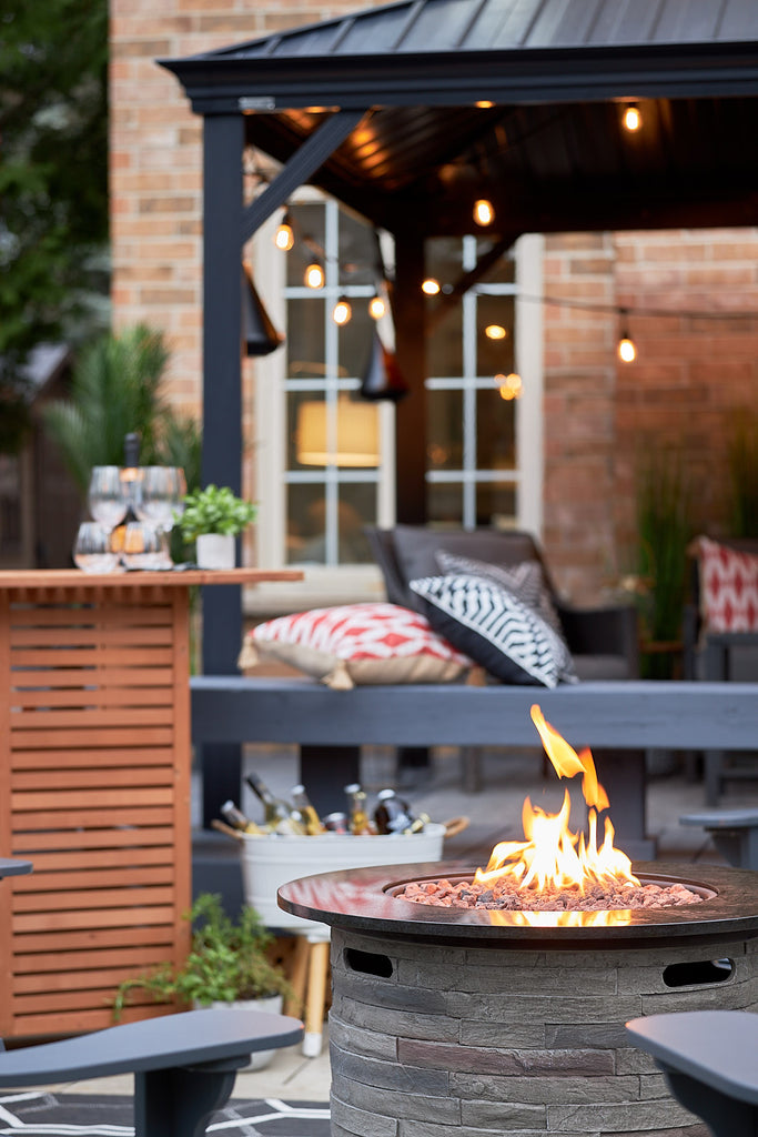 outdoor decor and fire pit