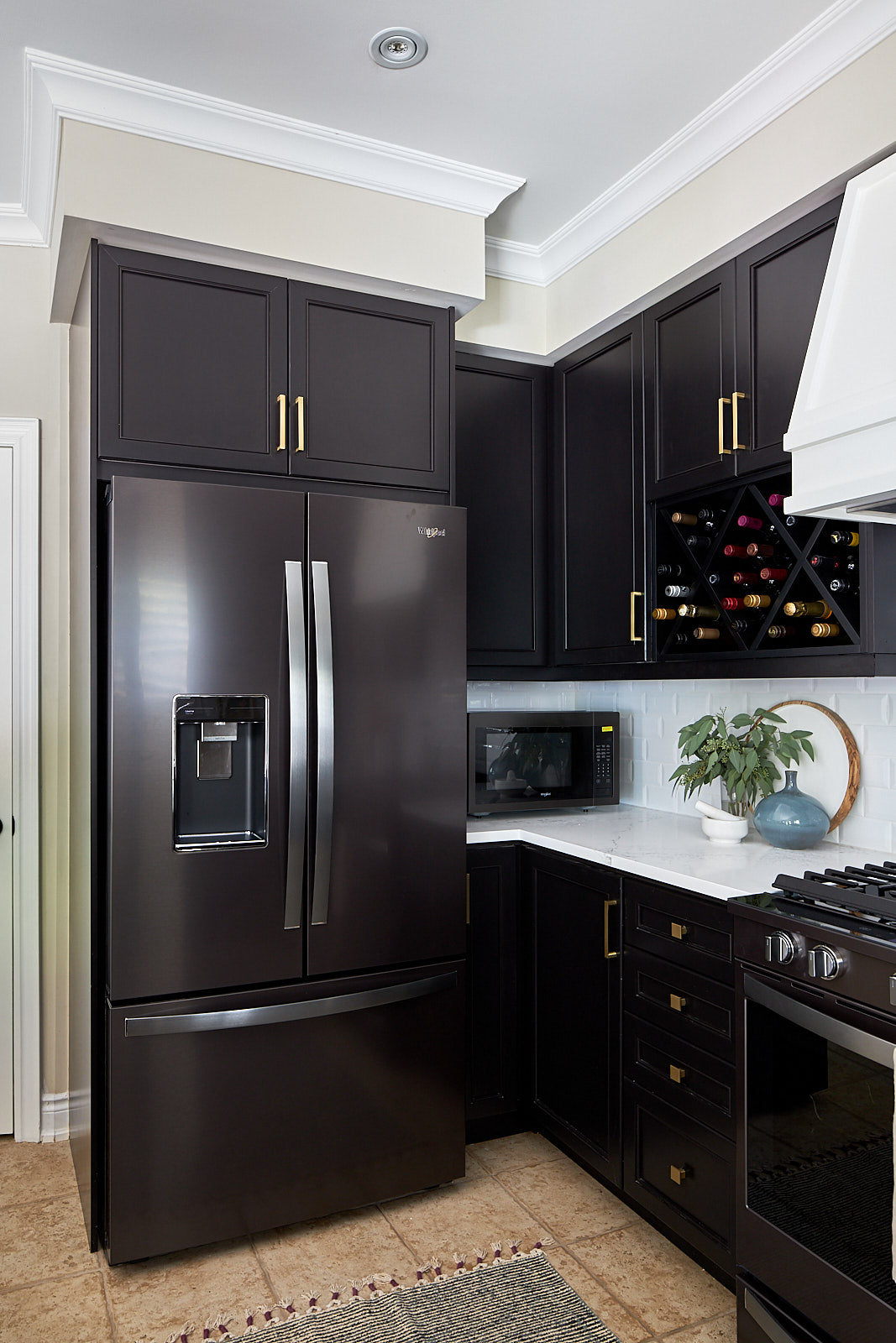 Black stainless steel fridge whirlpool