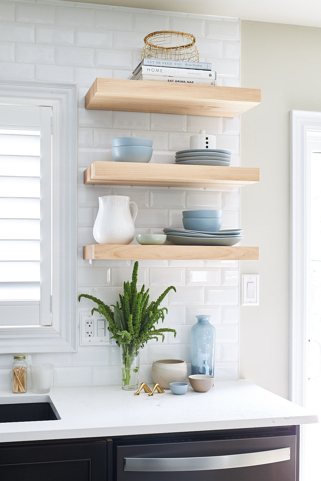 floating shelves in kitchen jo alcorn