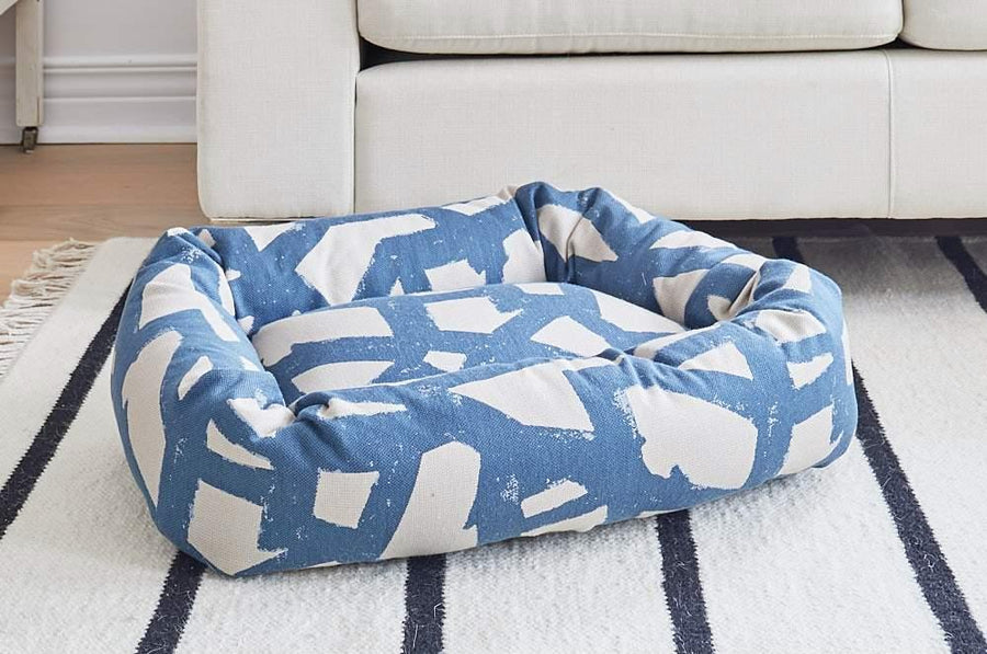 DONUT DOG BED, BLUE