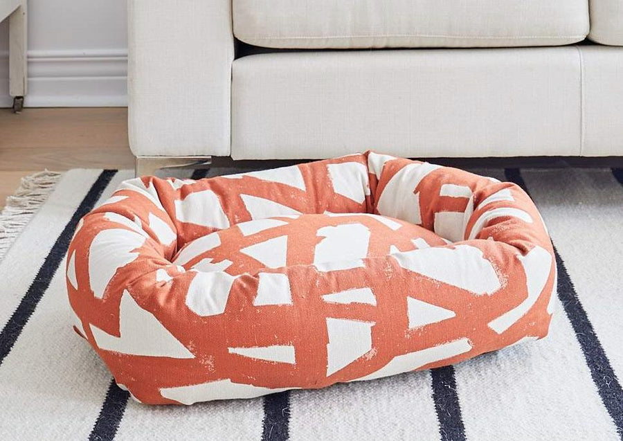DONUT DOG BED, ORANGE