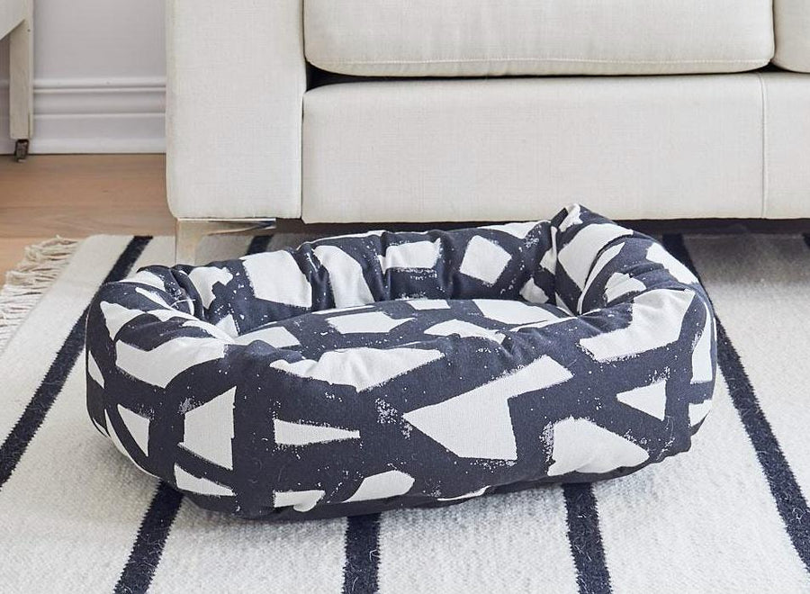 DONUT DOG BED, BLACK