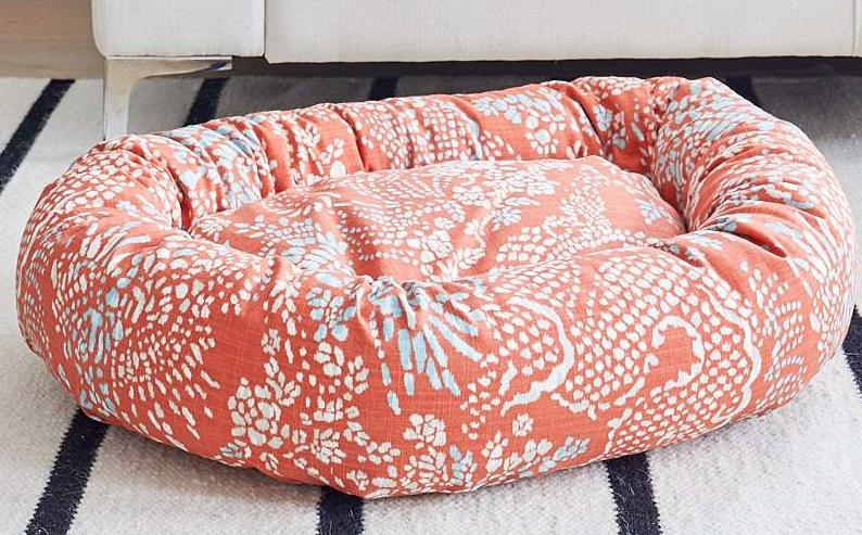 designer fabric dog bed