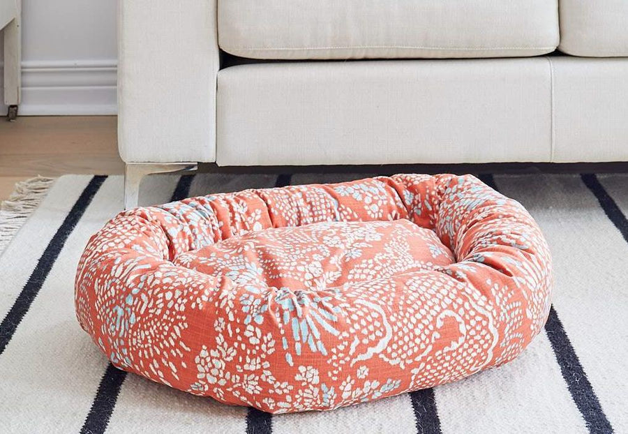orange dog bed