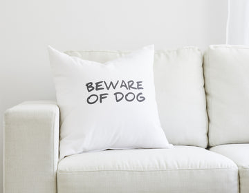 beware of dog pillow
