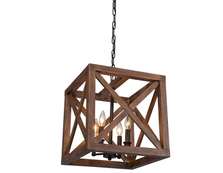 Collingwood 4 Light  Walnut Pendant