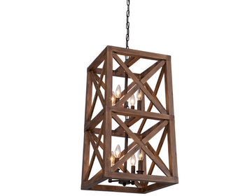 Collingwood 8 Light  Walnut Pendant