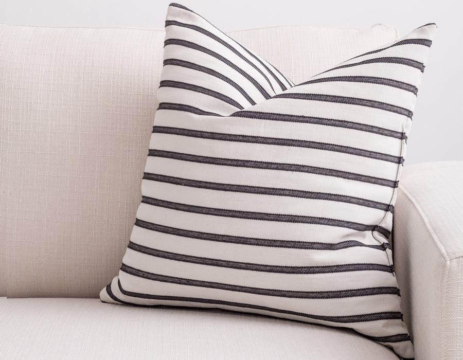 black stripe pillow