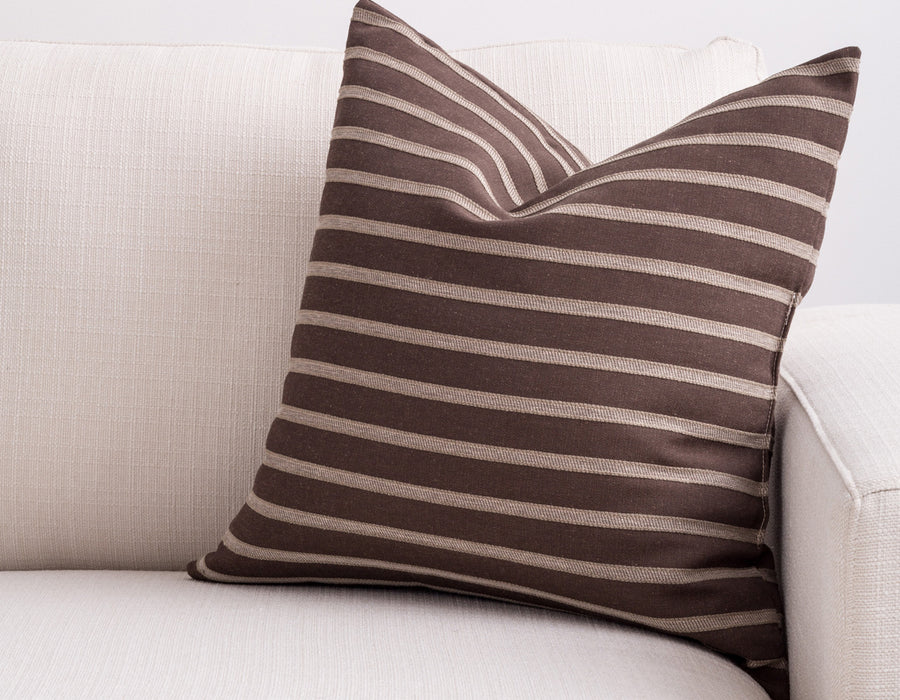 brown stripe pillow