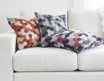 modern pillow fabric