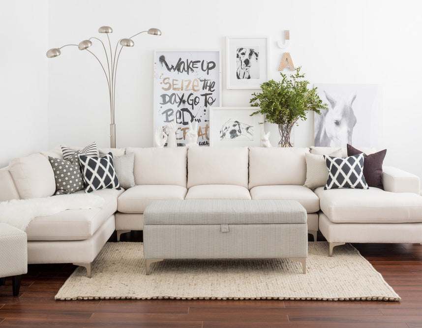 Velvet U-Shape Sectional