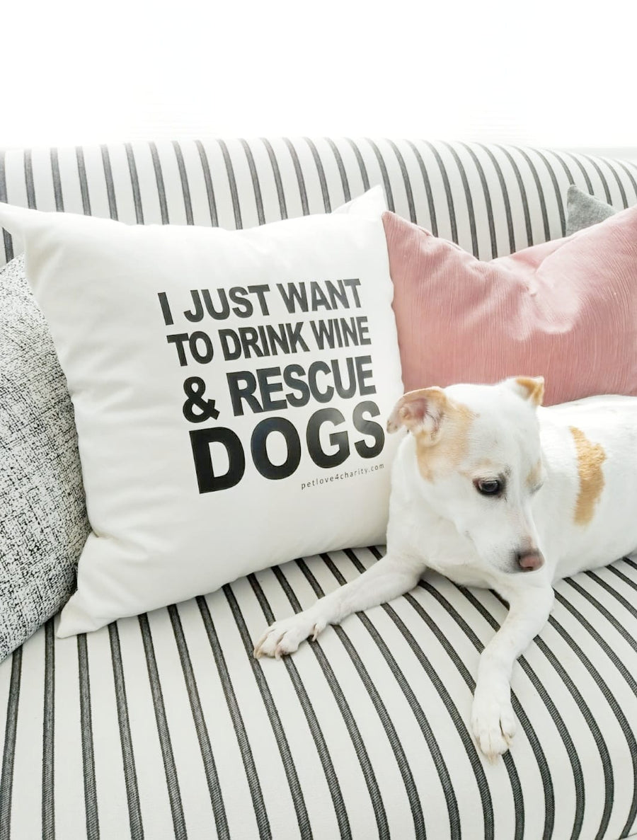 dog rescue pillow