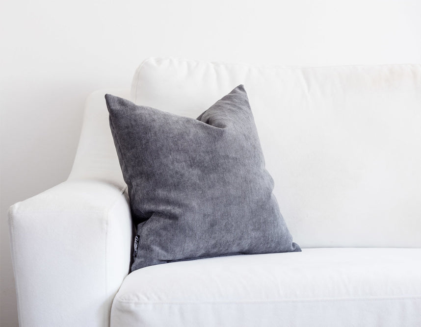 grey accent pillow