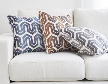 modern fabric pillows