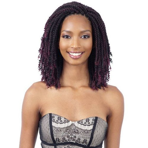 2X KINKY TWIST 8 Inches - Freetress Synthic Crochet Pre Looped Braid