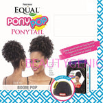 Boom Pop - Freetress Equal Synthetic Drawstring Ponytail Curly Kinky Afro Style
