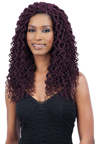 Freetress Synthetic Braid CURLY FAUX LOC SMALL