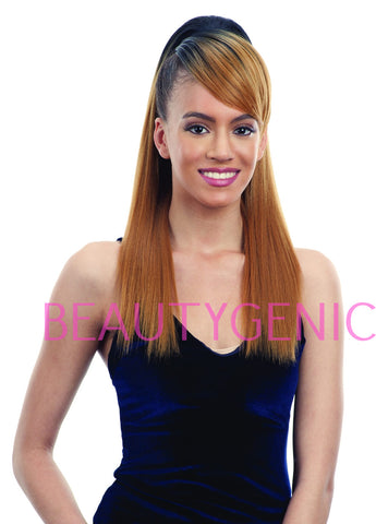 Freetress Equal Drawstring Ponytail And Swoop Side Bang Smooth Yaky 2pc