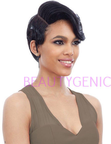 Freetress Equal Human Hair Blend Lace Side Short Wig - IC 002