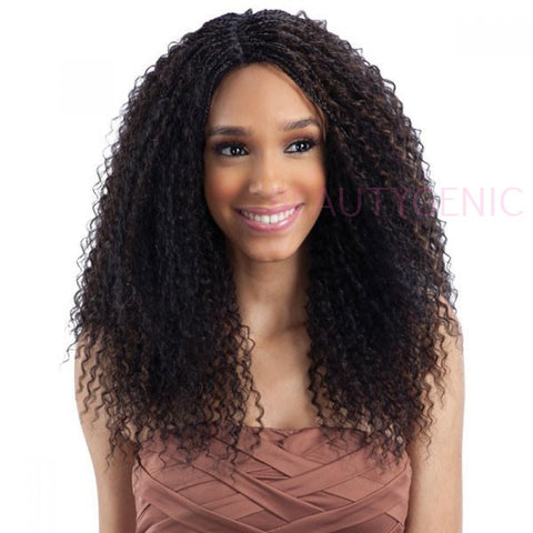 FreeTress Equal Lace Front L Part Wig STRAW CURL BRAIDS