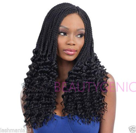 FreeTress Synthetic Hair Braid PRE-CURLED LUSTY TWIST