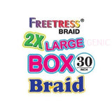 FreeTress Synthetic Hair Crochet Braids 2X LARGE BOX BRAID 30 INCHES