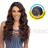 Freetress Equal Synthetic Diagonal Part Brazilian Lace Front Wig Flirty Deep