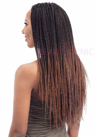 Freetress Pre Looped Crochet Braid 2X PRE-FEATHERED BOX BRAID 12,14,16,18 AND 20 INCHES