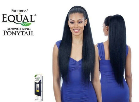 FreeTress Equal Synthetic Drawstring Ponytail – Long Straight Yaky 38 Inches