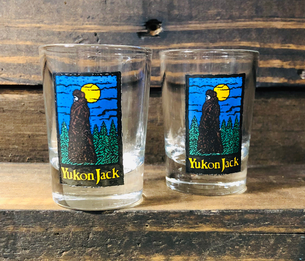Vintage Pair Of Yukon Shot Glasses Tipsy Soul Sisters