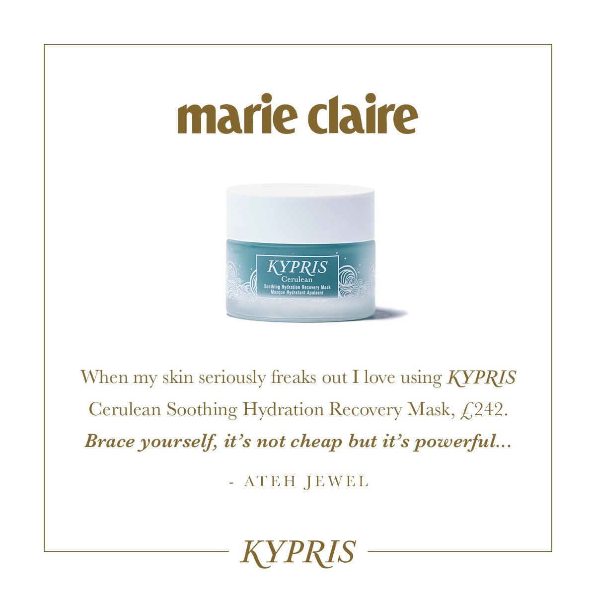 KYPRIS In The Press: Marie Claire