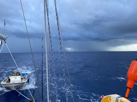 Storm Clouds Bearing Down Over the Ocean