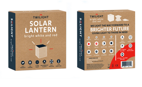 Compostable Packaging for Collapsable Solar Lantern