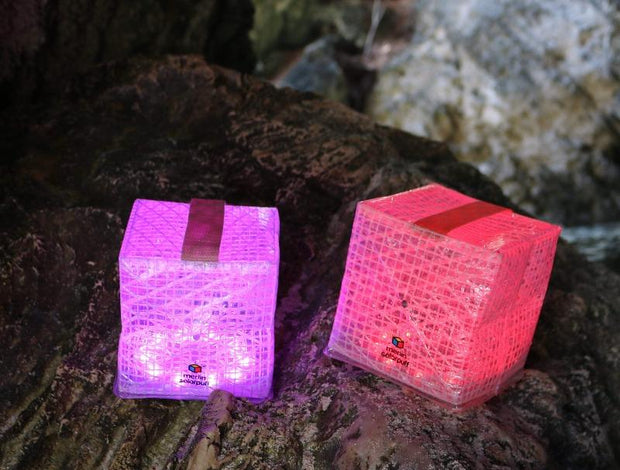 MULTICOLOR COLLAPSIBLE AND FOLDABLE SOLAR LANTERN - SolarPuff™
