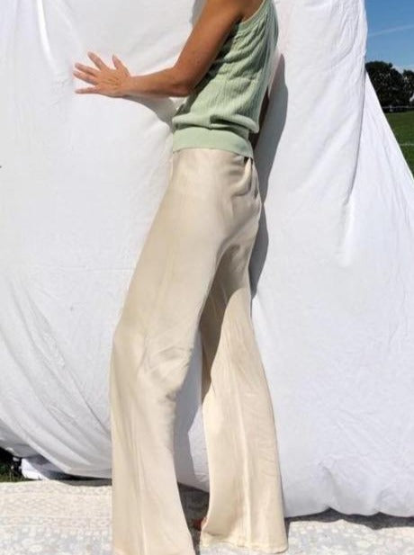 The Satin Trousers - Beige