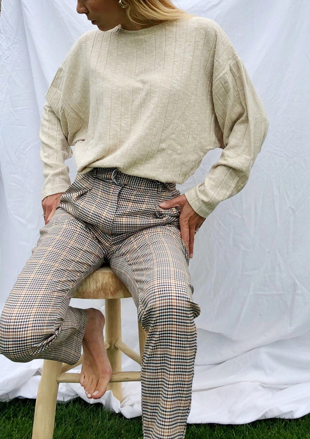Tailored trousers in check