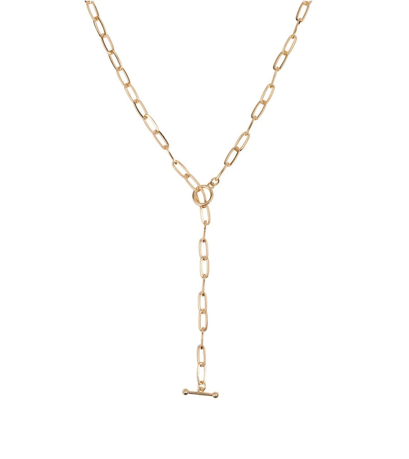 """T"" Bar Chain Necklace"