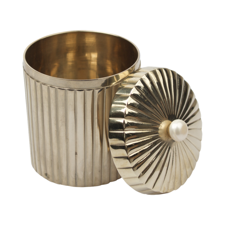 Brass container with fresh water pearl